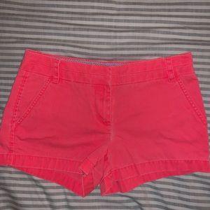 J.Crew Neon Pink Chino Shorts